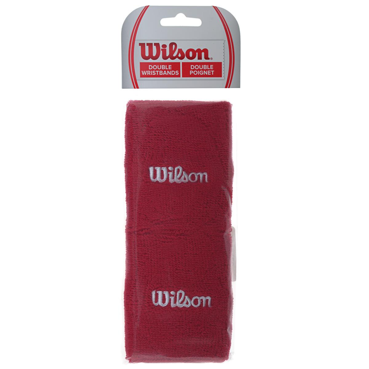 "Wilson Напульсник Wilson ""Double Wristband"", цвет: красный, 2 шт. Размер универсальный"