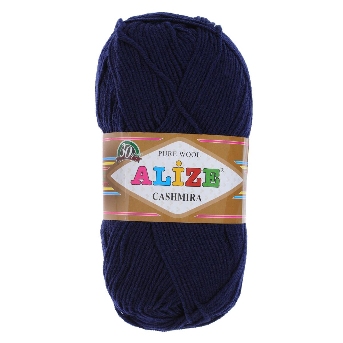 Пряжа для вязания Alize Cashmira, цвет: синий (58), 300 м, 100 г, 5 шт364009_58Пряжа для вязания Alize Cashmira изготовлена из 100% шерсти. Пряжа упругая, эластичная, тёплая, уютная и не колется, что очень подходит для детей. Тоненькая нитка прекрасно подойдет для вязки демисезонных вещей. Пряжа легко распускается и перевязывается несколько раз, не деформируясь и не влияя на вид изделия. Натуральная шерстяная нить, обеспечивает изделию прекрасную форму. Рекомендуется ручная стирка при температуре 30 °C. Рекомендованные спицы № 3-5, крючок № 2-4.