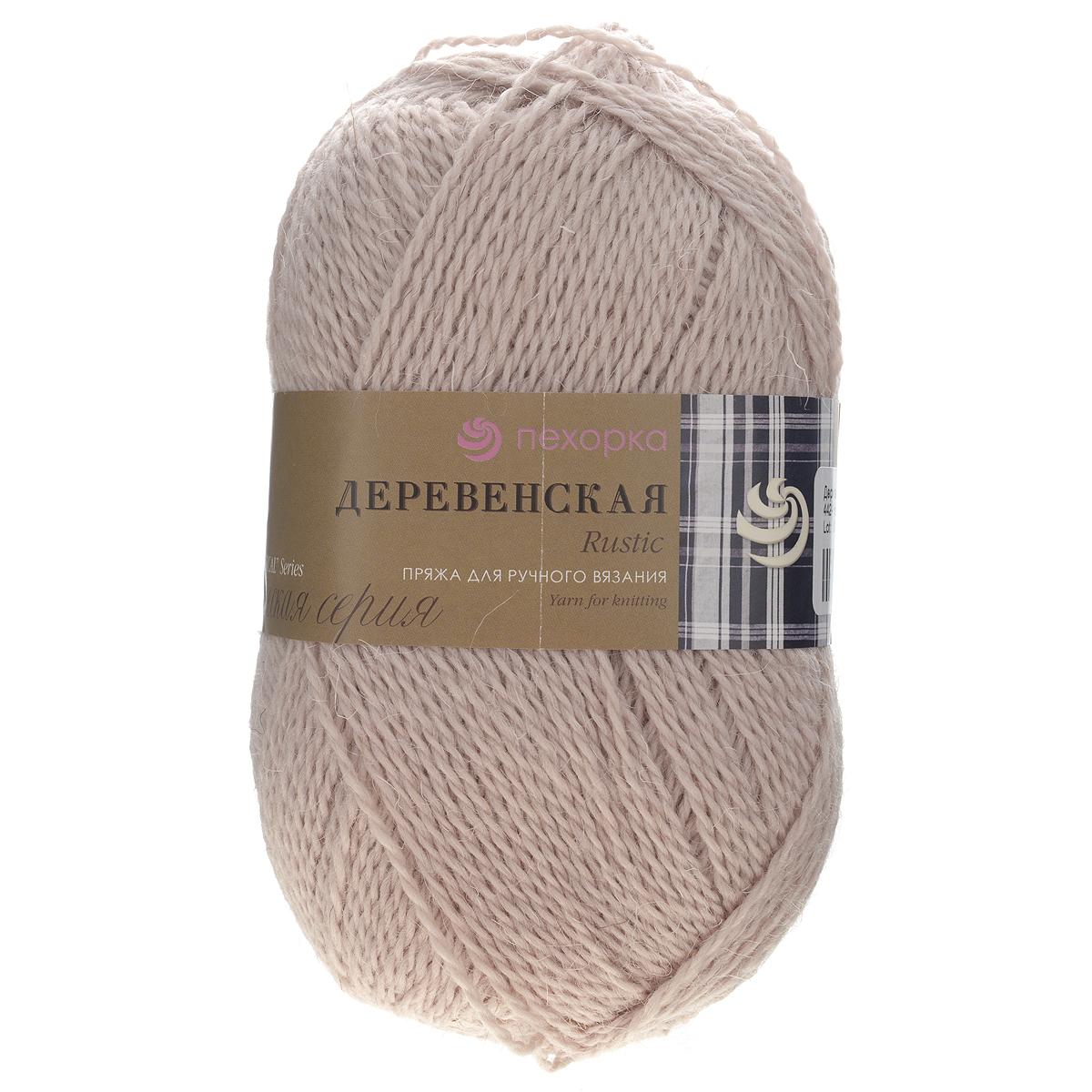 Пряжа для вязания Пехорка Деревенская, цвет: натуральный (442), 250 м, 100 г, 10 шт360039_442_442-НатуральныйПряжа для вязания Пехорка Деревенская изготовлена из 100% полугрубой шерсти. Деревенской названа потому что, в те прошлые далекие годы наши бабушки обрабатывали шерсть вручную, выпрядали пряжу и вязали рукавицы, носки, жилетки, свитера. Такой трикотаж получается колючий, но теплый, а также прекрасно держит форму. Рекомендуемые спицы для вязания №3,5. Толщина нити: 2 мм.