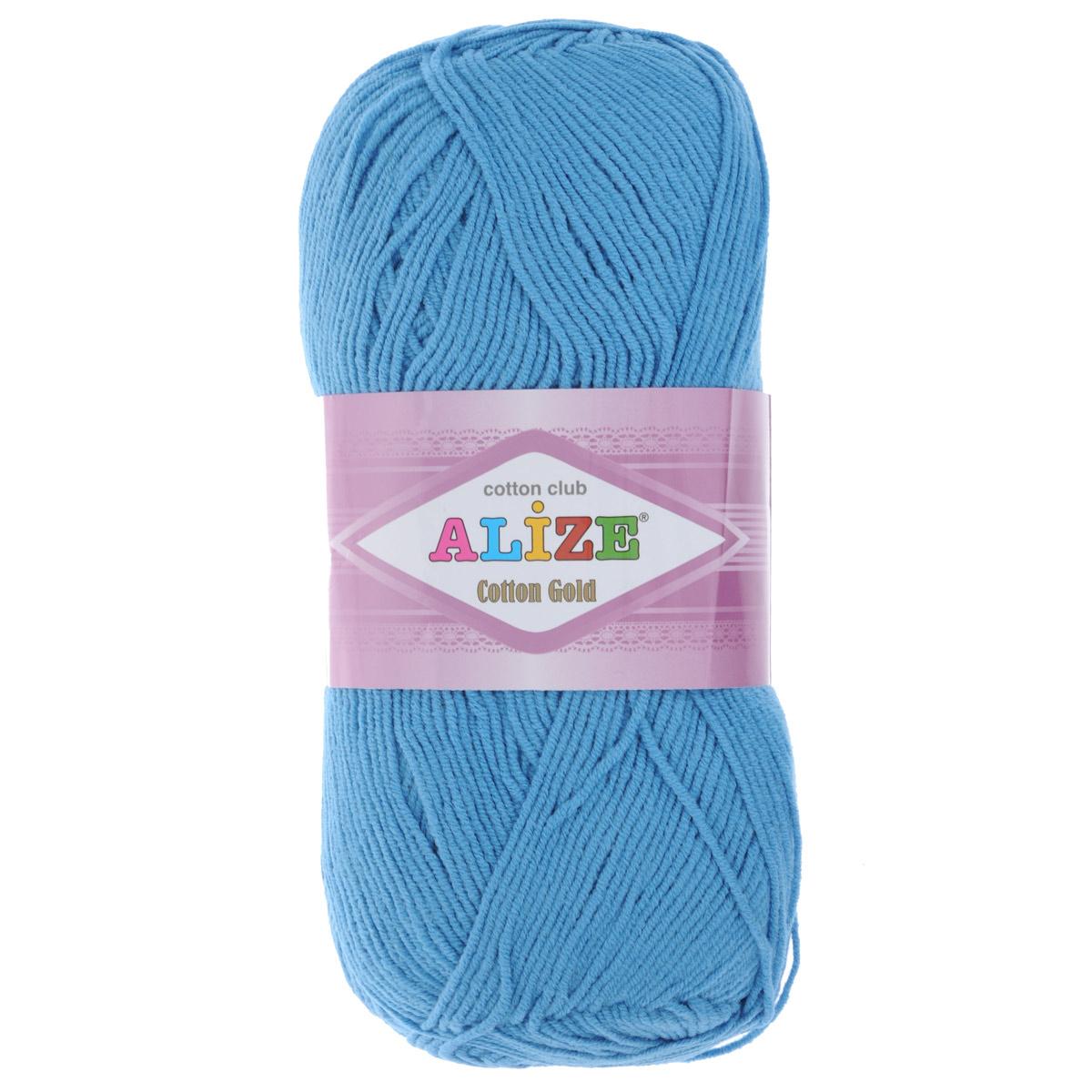 Пряжа для вязания Alize Cotton Gold, цвет: темно-голубой (245), 330 м, 100 г, 5 шт697548_245Пряжа для вязания Alize Cotton Gold - это классическая демисезонная пряжа из хлопка с акрилом. Данная пряжа отлично подойдет для изделий осень-весна. Также подходит для вязания летних вещей взрослым и детям. Мягкая и бархатистая на ощупь. Полотно получается пластичным, мягким, все переплетения ровные. Состав: 55% хлопок, 45% акрил. Рекомендуемый размер спиц: №3,5 - 5. Рекомендуемый размер крючка: №2 - 4.