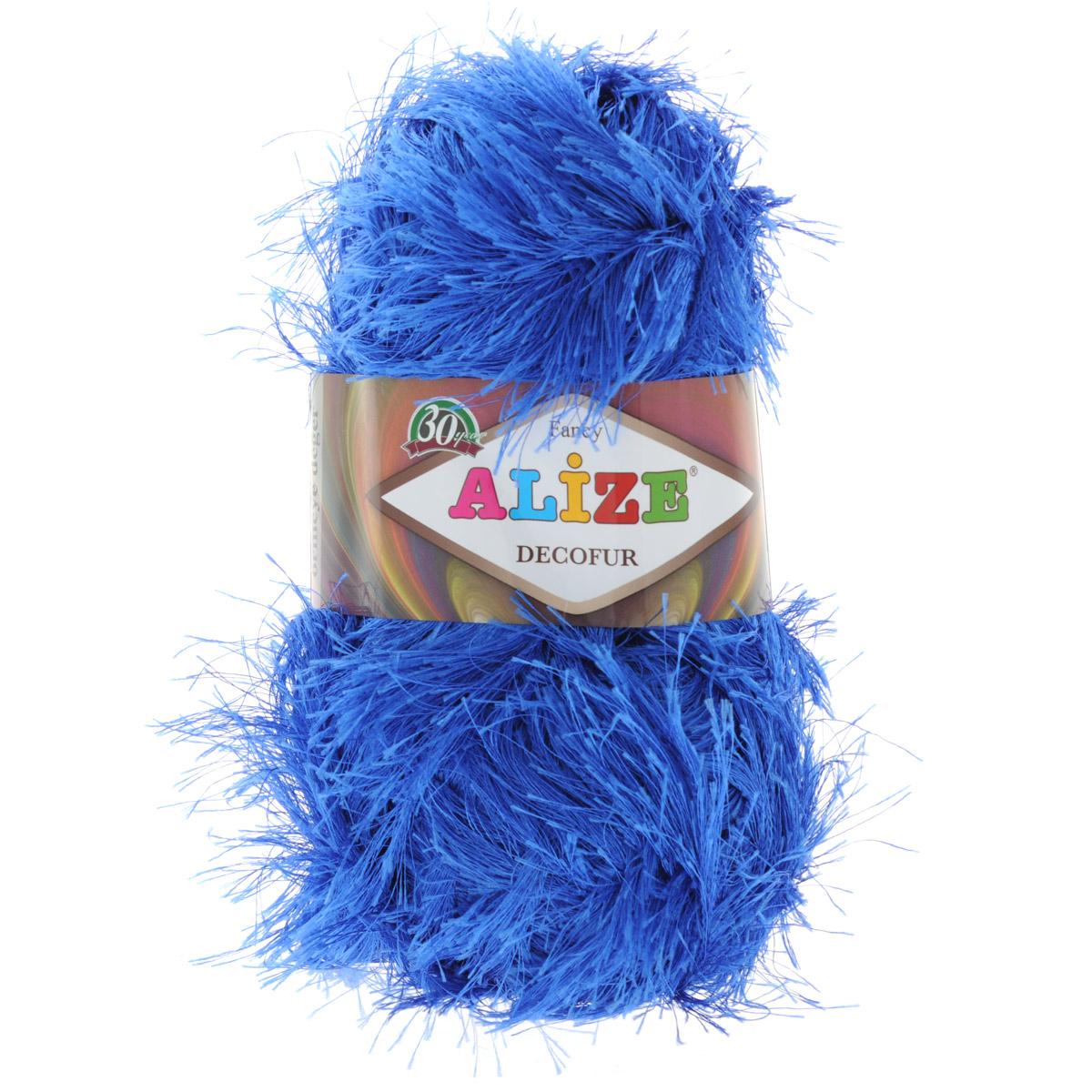 Пряжа для вязания Alize Decofur, цвет: синий (141), 110 м, 100 г, 5 шт364128_141Пряжа для вязания Alize Decofur изготовлена из полиэстера. Пряжа-травка предназначена для ручного вязания и идеально подходит для отделки. Готовый ворс получается равным 4 см. Рекомендованные спицы для вязания 6-8 мм. Рекомендованный крючок для вязания 3-4 мм. Комплектация: 5 мотков. Состав: 100% полиэстер.