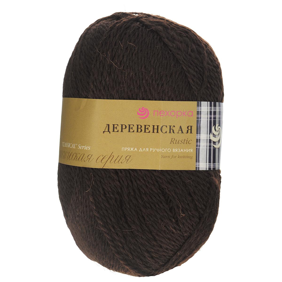 Пряжа для вязания Пехорка Деревенская, цвет: шоколад (17), 250 м, 100 г, 10 шт360039_17_17-ШоколадПряжа для вязания Пехорка Деревенская изготовлена из 100% полугрубой шерсти. Деревенской названа потому что, в те прошлые далекие годы наши бабушки обрабатывали шерсть вручную, выпрядали пряжу и вязали рукавицы, носки, жилетки, свитера. Такой трикотаж получается колючий, но теплый, а также прекрасно держит форму. Рекомендуемые спицы для вязания №3,5. Толщина нити: 2 мм.