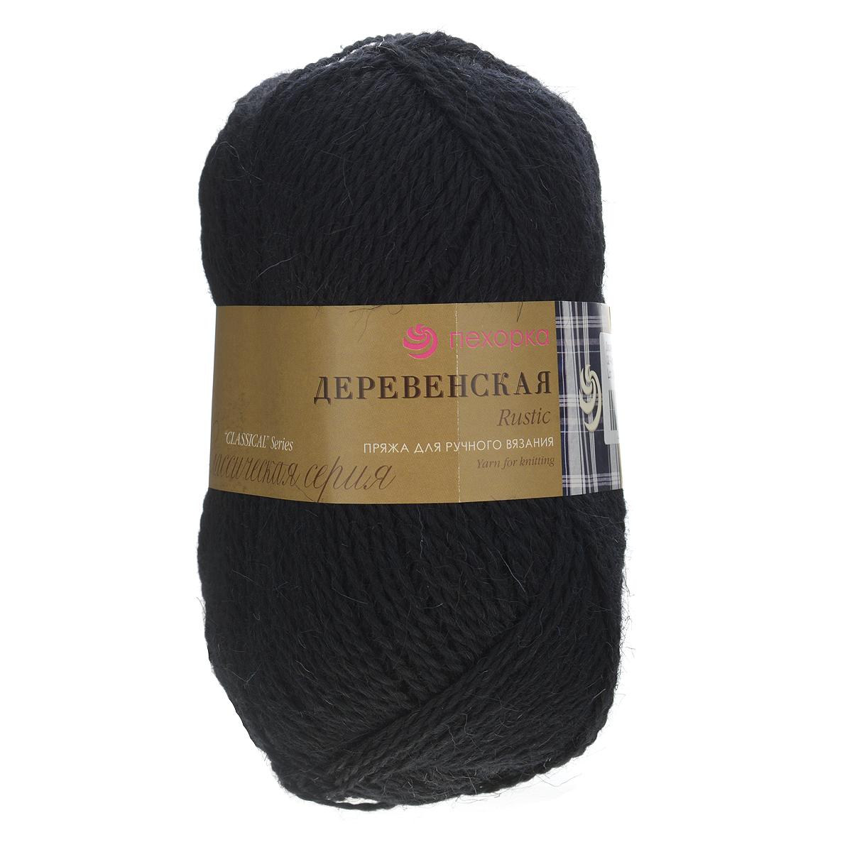Пряжа для вязания Пехорка Деревенская, цвет: черный (02), 250 м, 100 г, 10 шт360039_02_02-ЧерныйПряжа для вязания Пехорка Деревенская изготовлена из 100% полугрубой шерсти. С ее помощью вы сможете связать рукавицы, носки, жилетки, свитера именно. Такой трикотаж получается колючий, но теплый, а также прекрасно держит форму. Рекомендуемые спицы для вязания №3,5. Толщина нити: 2 мм.