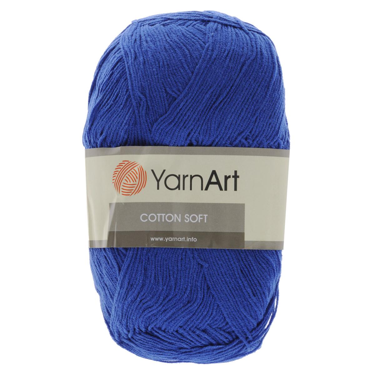 Пряжа для вязания YarnArt Cotton Soft, цвет: синий (47), 600 м, 100 г, 5 шт372071_47Пряжа для вязания YarnArt Cotton Soft изготовлена из хлопка и полиакрила. Эта универсальная пряжа подходит для вязания крючком и спицами, а также для машинного вязания. Нить ровная, тонкая, не линяет и не выгорает. Прекрасно подойдет для создания водолазок, платьев, юбок, шалей, а также детских вещей. Изделия из этой пряжи получаются мягкие, очень легкие, износостойкие. Цветовая гамма пряжи очень богатая, вы можете пополнить свой гардероб изделиями из нее на любой сезон: джемпером, жакетом, свитером и другими полезными и оригинальными вещами, которые прослужат вам и вашим близким очень долго и не создадут трудностей в уходе за ними. Рекомендованные спицы и крючок 2,5 мм. Состав: 55% хлопок, 45% полиакрил.