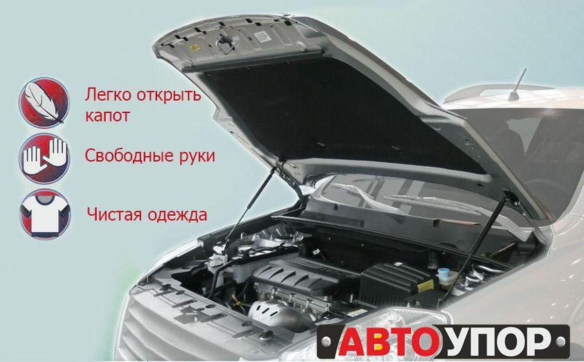Амортизаторы капота Автоупор, для VW Polo Sedan, 2010-UVWPOL012Ароматизаторы Автоупор предназначены для удобства открывания и фиксации капота. Выполнены они из высококачественной прочной стали. Амортизаторы включают в себя комплект для крепления в штатные места под капотом автомобиля.