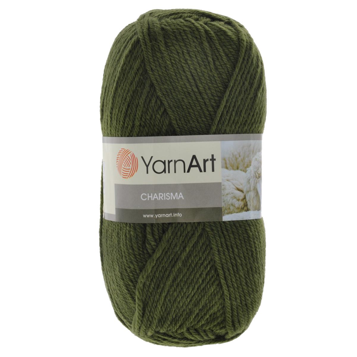 Пряжа для вязания YarnArt Charisma, цвет: болотный (530), 200 м, 100 г, 5 шт372032_530Пряжа для вязания YarnArt Charisma изготовлена из шерсти и акрила. Эта полушерстяная классическая пряжа подходит для ручного вязания. Нить мягкая, плотной скрутки, послушная, не расслаивается, не тянется, легко распускается и не деформируется. Благодаря преобладанию шерсти в составе пряжи, изделия получаются очень теплыми, а небольшой процент акрила придает практичности, поэтому вещи из этой пряжи не деформируются после стирки и в процессе носки. Пряжа YarnArt Charisma — однотонной окраски с небольшим матовым эффектом. Ей можно оригинально декорировать вязаные из другой пряжи изделия. Пряжа окрашена стойкими качественными красителями, не линяет. Рекомендуются спицы 4 мм, крючок 5 мм. Состав: 80% шерсть, 20% акрил.