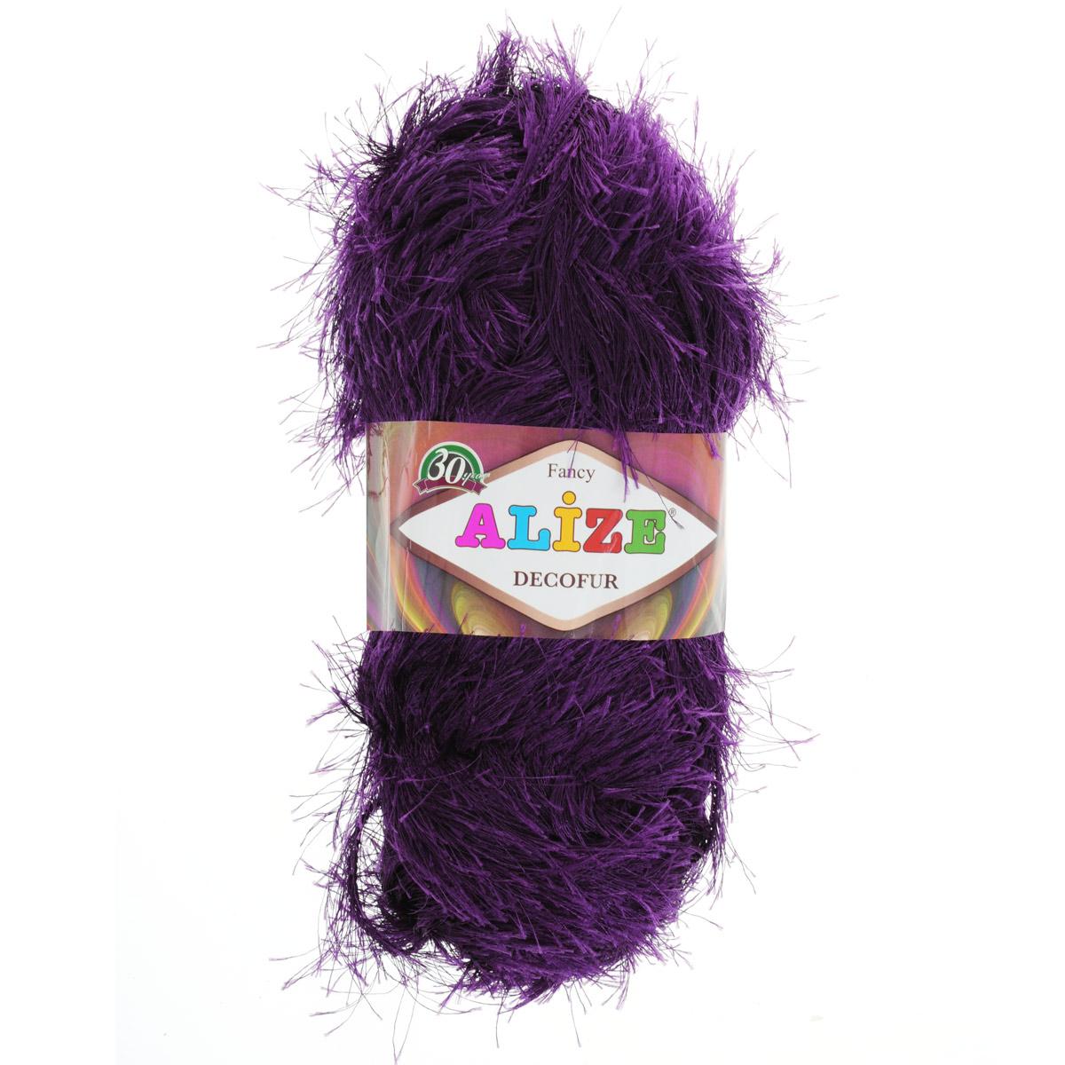 Пряжа для вязания Alize Decofur, цвет: фиолетовый (304), 110 м, 100 г, 5 шт364128_304Пряжа для вязания Alize Decofur изготовлена из полиэстера. Пряжа-травка предназначена для ручного вязания и идеально подходит для отделки. Готовый ворс получается равным 4 см. Рекомендованные спицы для вязания 6-8 мм. Рекомендованный крючок для вязания 3-4 мм. Комплектация: 5 мотков. Состав: 100% полиэстер.