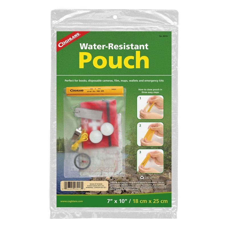 Сумка водонепроницаемая Coghlans, 18 см х 25 см8416Водонепроницаемая сумка-чехол Coghlans, изготовленная из прочного винила с застежкой Velcro (липучка), идеальна для защиты документов, личных вещей, портативной электроники и других мелких предметов от влаги. Это полезный аксессуар для туристических походов. Размер сумки: 18 см х 25 см.