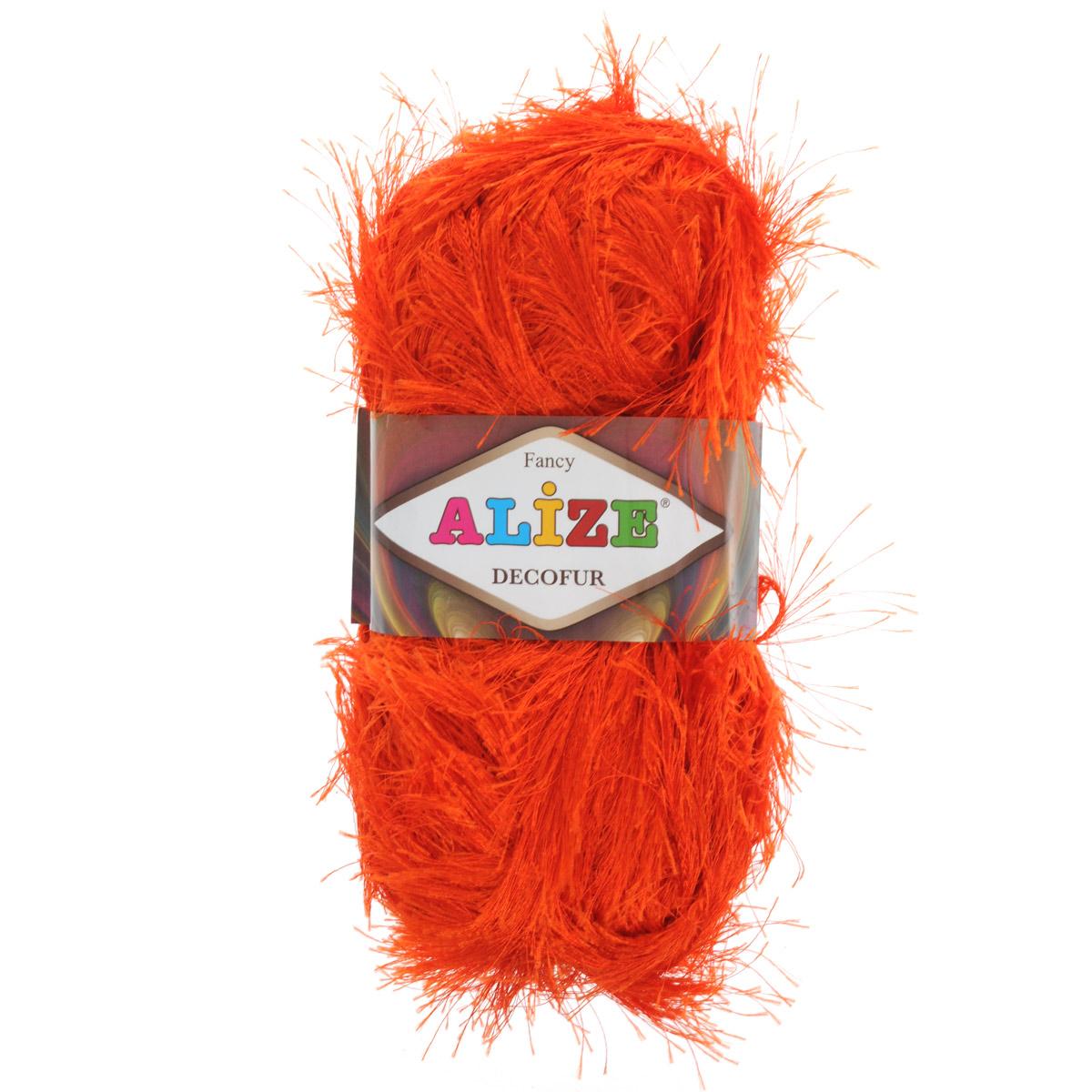 Пряжа для вязания Alize Decofur, цвет: рыжий (89), 110 м, 100 г, 5 шт364128_89Пряжа для вязания Alize Decofur изготовлена из полиэстера. Пряжа-травка предназначена для ручного вязания и идеально подходит для отделки. Готовый ворс получается равным 4 см. Рекомендованные спицы для вязания 6-8 мм. Рекомендованный крючок для вязания 3-4 мм. Комплектация: 5 мотков. Состав: 100% полиэстер.