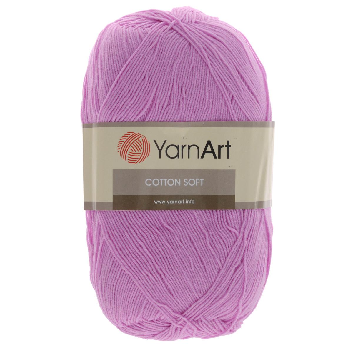 Пряжа для вязания YarnArt Cotton Soft, цвет: светло-розовый (20), 600 м, 100 г, 5 шт372071_20Пряжа для вязания YarnArt Cotton Soft изготовлена из хлопка и полиакрила. Эта универсальная пряжа подходит для вязания крючком и спицами, а также для машинного вязания. Нить ровная, тонкая, не линяет и не выгорает. Прекрасно подойдет для создания водолазок, платьев, юбок, шалей, а также детских вещей. Изделия из этой пряжи получаются мягкие, очень легкие, износостойкие. Цветовая гамма пряжи очень богатая, вы можете пополнить свой гардероб изделиями из неё на любой сезон: джемпером, жакетом, свитером и другими полезными и оригинальными вещами, которые прослужат вам и вашим близким очень долго и не создадут трудностей в уходе за ними. Рекомендованные спицы и крючок 2,5 мм. Состав: 55% хлопок, 45% полиакрил.