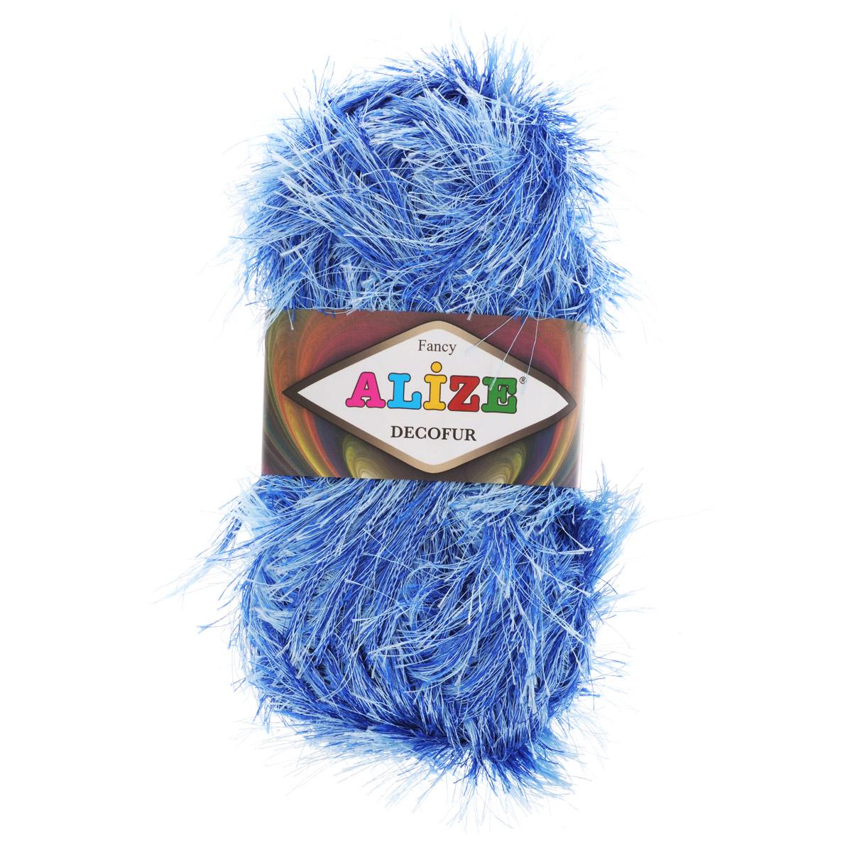 Пряжа для вязания Alize Decofur, цвет: синий, голубой (1370), 110 м, 100 г, 5 шт364128_1370Пряжа для вязания Alize Decofur изготовлена из полиэстера. Пряжа-травка предназначена для ручного вязания и идеально подходит для отделки. Готовый ворс получается равным 4 см. Рекомендованные спицы для вязания 6-8 мм. Рекомендованный крючок для вязания 3-4 мм. Комплектация: 5 мотков. Состав: 100% полиэстер.