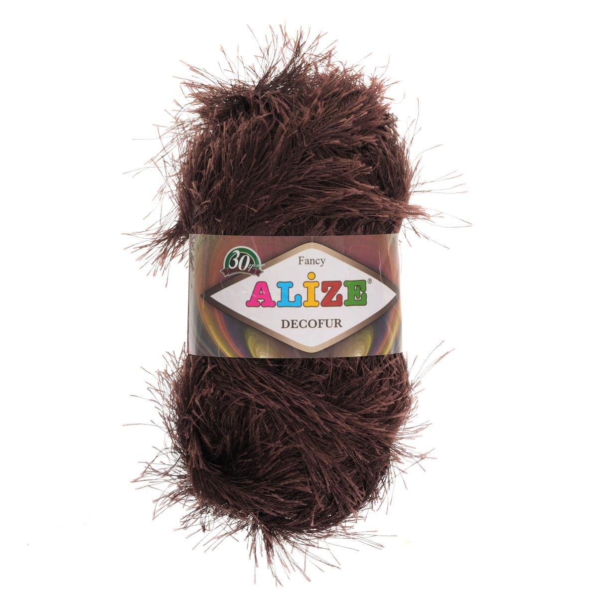 Пряжа для вязания Alize Decofur, цвет: коричневый (26), 110 м, 100 г, 5 шт364128_26Пряжа для вязания Alize Decofur изготовлена из полиэстера. Пряжа-травка предназначена для ручного вязания и идеально подходит для отделки. Готовый ворс получается равным 4 см. Рекомендованные спицы для вязания 6-8 мм. Рекомендованный крючок для вязания 3-4 мм. Комплектация: 5 мотков. Состав: 100% полиэстер.