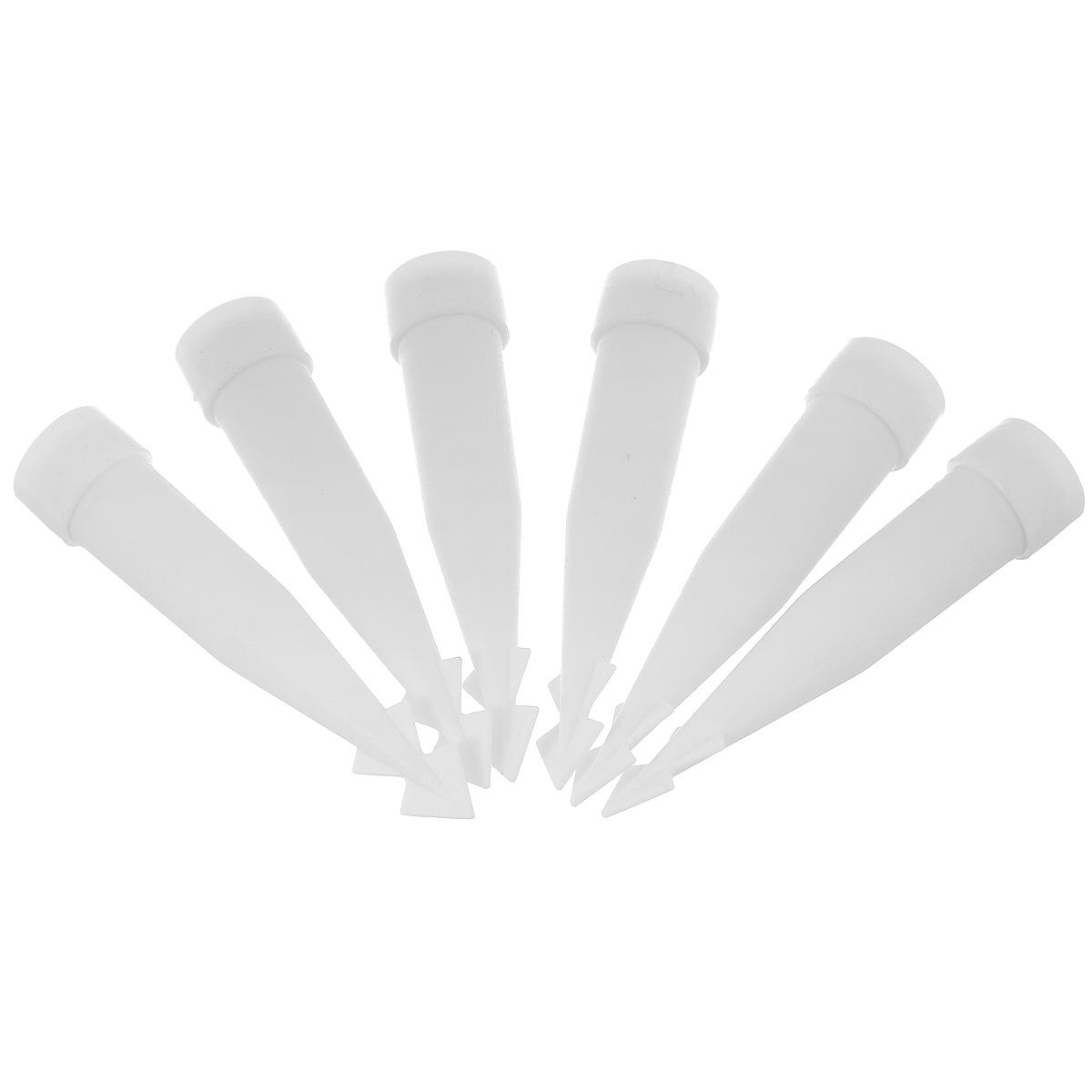 Клин-держатель для живых цветов на торте Wilton, 6 штWLT-205-8501Клин-держатель Wilton предназначен для закрепления на торте живых цветов. Можно налить в него воды, чтобы ваши цветы долго оставались свежими. Оснащен силиконовой крышкой для предотвращения попадания на торт воды. Высота: 9 см.