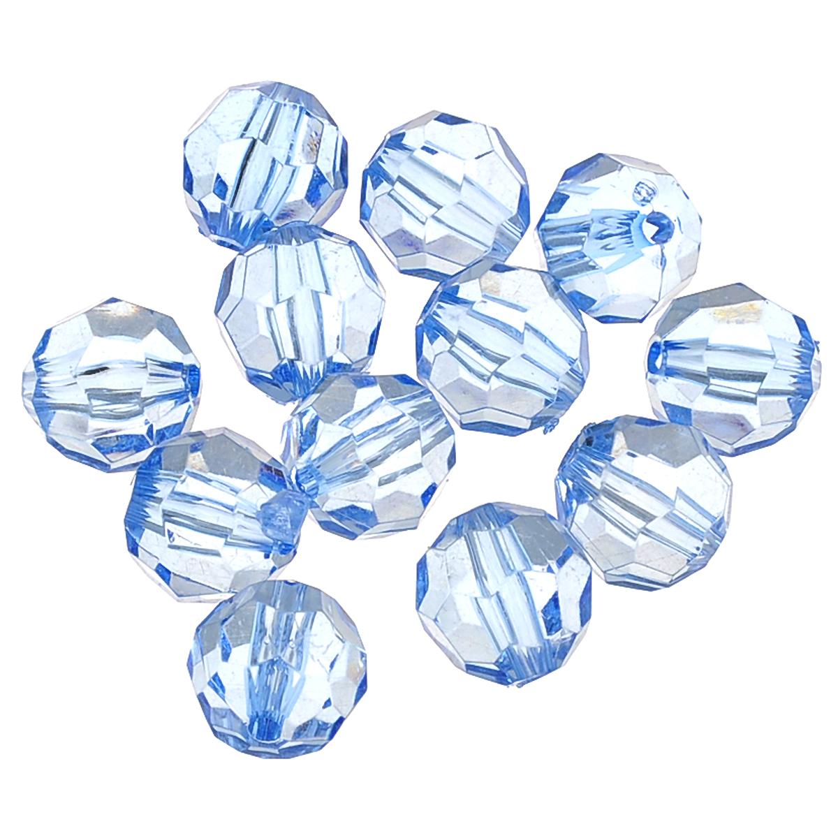 Бусины Астра, цвет: голубой (33), диаметр 16 мм, 25 г. 684978_33684978_33Набор бусин Астра, изготовленный из акрила, позволит вам своими руками создать оригинальные ожерелья, бусы или браслеты. Бусины имеют круглую форму с рельефной, многогранной поверхностью. Изготовление украшений - занимательное хобби и реализация творческих способностей рукодельницы, это возможность создания неповторимого индивидуального подарка. Диаметр бусины: 16 мм. Вес: 25 г.