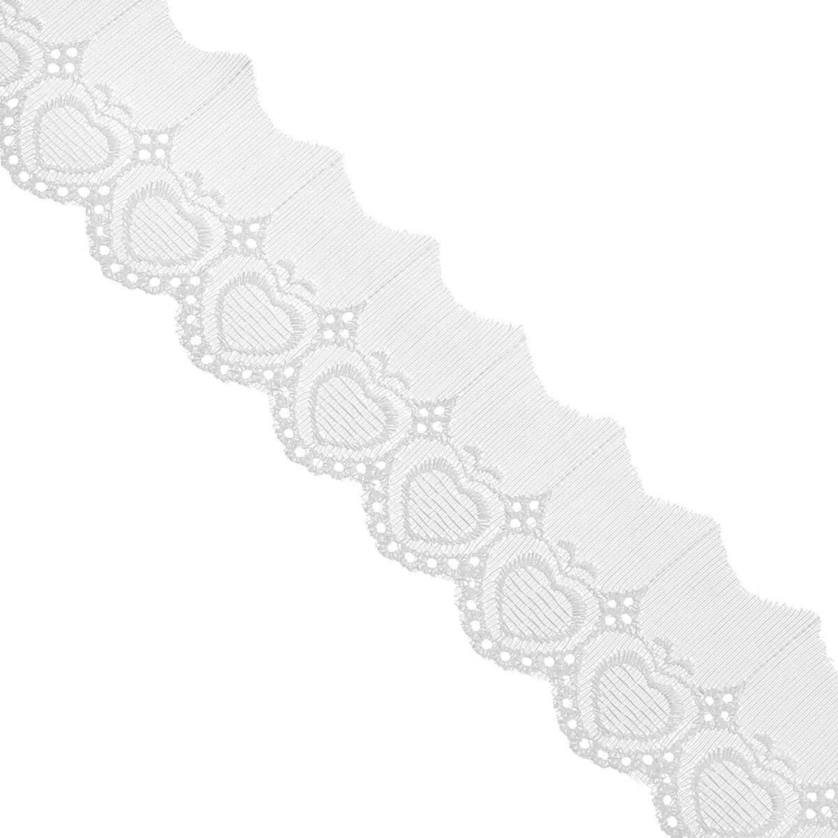 Тесьма отделочная Астра, цвет: белый, ширина 5,5 см, длина 9 м. 77043717704371Отделочная тесьма Астра, изготовленная из хлопка, предназначена для декорирования. Такая тесьма может создает эффект ручной работы на предмете одежды, что придаст ей неповторимость, сэкономив при этом ваше время на создание изделия. Также она идеально подойдет для оформления различных творческих работ таких, как скрапбукинг, аппликация, декор коробок и открыток и многое другое. Тесьма наивысшего качества практична в использовании. Она станет незаменимым элементом в создании рукотворного шедевра. Ширина: 5,5 см. Длина: 9 м.