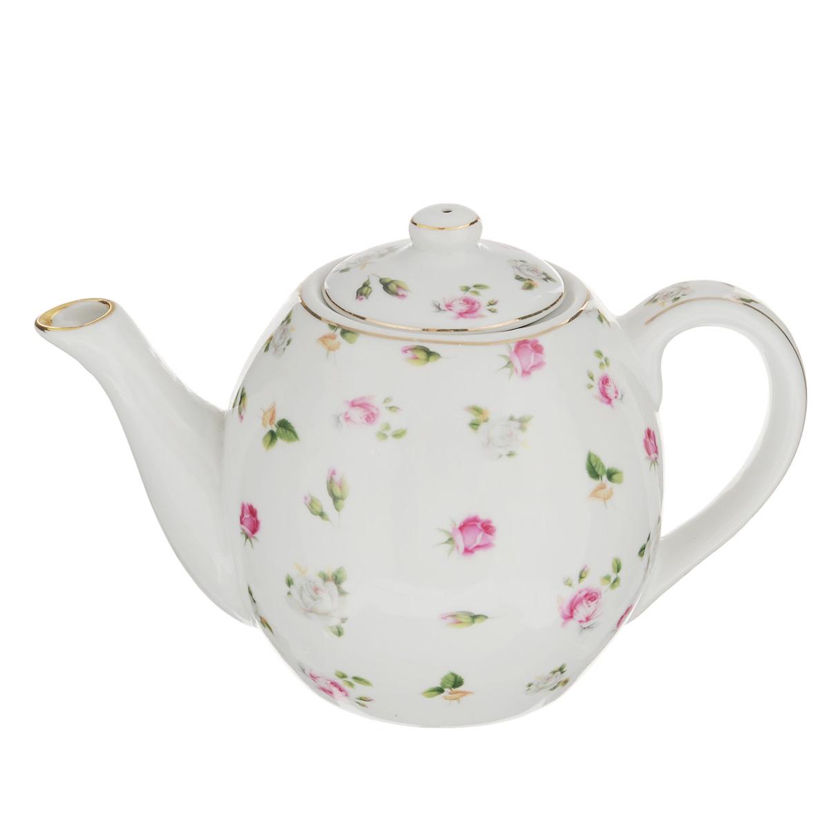 Чайник заварочный Briswild Валери, 650 мл543-288Заварочный чайник Briswild Валери изготовлен из высококачественного фарфора и покрыт слоем сверкающей глазури. Посуда оформлена изысканным цветочным рисунком и эмалью золотистого цвета. Такой чайник прекрасно дополнит сервировку стола к чаепитию и станет его неизменным атрибутом. Не использовать в микроволновой печи. Объем: 650 мл. Диаметр (по верхнему краю): 7 см. Высота стенки (без учета крышки): 10 см.