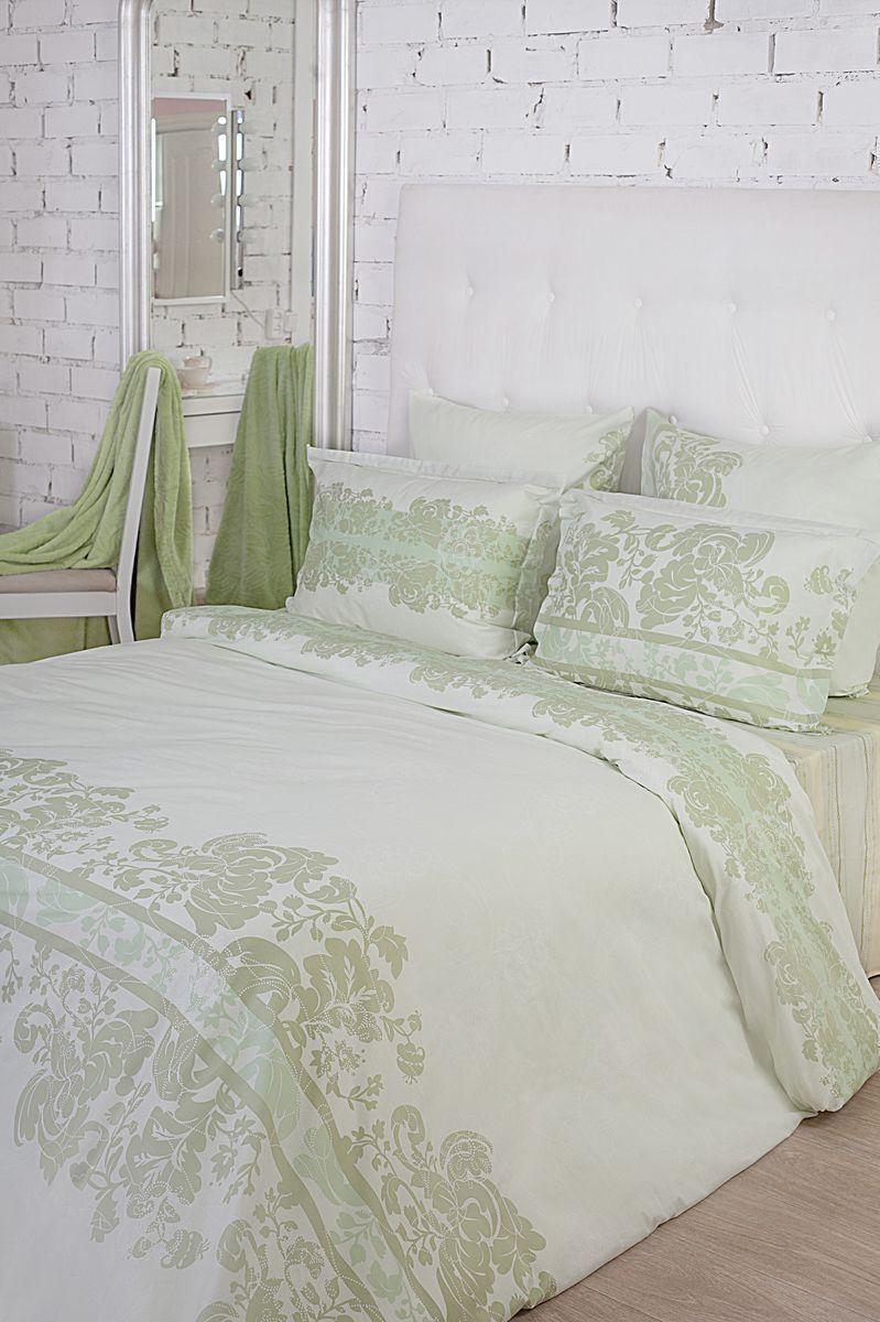 Комплект белья La Prima Оливия (дуэт семейный КПБ, сатин, наволочка-трансформер 50х70/70х70), светло-зеленый355/0223023/1476Все оттенки нежной зелени отражены в дизайне «Оливия». Прекрасно дополяет нежную и сочную цветовую гамму дизайна оригинальный принт в виде замысловатых узоров насыщенно-зеленого цвета. Зеленый можно по праву назвать самым комфортным и свежим цветом из всей палитры, он вызывает только положительные эмоции и исключительно приятные ассоциации, например, с лесом, сочной листвой, яркой травой и минералами невероятной красоты. Использование зеленого цвета – идеально подходит для создания домашнего интерьера, который будет наполнен атмосферой релакса и полного умиротворения. Ткань Сатин (100% хлопок), в которой выполнен дизайн - идеально гладкая и нежная на ощупь, она дарит неповторимый комфорт во время сна и делает постельное белье истинным украшением спальни. Кроме того, постельно белье из ткани сатин очень прочное и износостойкое,приятное и легкое в уходе.