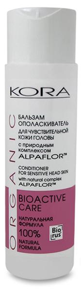 Кора Бальзам-ополаскиватель для чувствительной кожи головы с природным комплексом Alpaflor, 250 мл5228Формула бальзама, насыщенная питательными маслами и растительными ингредиентами, регулирует баланс влажности волос, придает им легкость и шелковистость, усиливает блеск, облегчает расчесывание, защищает волосы от УФ-лучей и других неблагоприятных факторов окружающей среды. Улучшая питание волосяных луковиц, бальзам восстанавливает нормальную структуру волос, препятствует их ломкости и потере эластичности. Питая, увлажняя кожу и волосы, эффективно успокаивает раздраженную кожу головы. НЕ СОДЕРЖИТ КРАСИТЕЛЕЙ, СУЛЬФАТОВ, СИЛИКОНОВ. ПОДХОДИТ ДЛЯ ЧАСТОГО ПРИМЕНЕНИЯ.