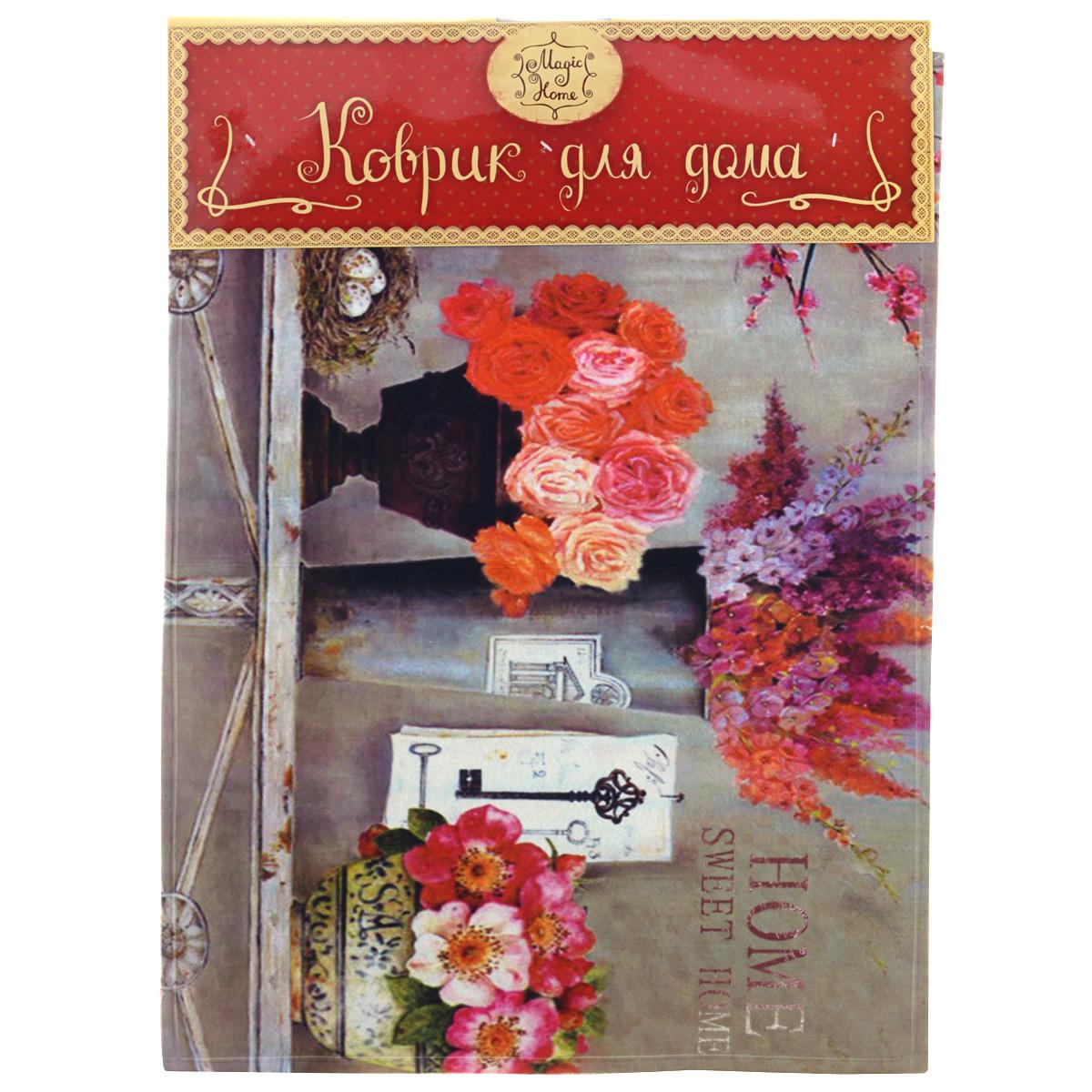 """Феникс-презент Коврик для входной двери """"Нежность цветов"""", 60 см х 45 см"""