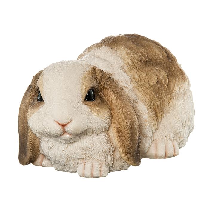 Фигура декоративная Village People Пятнистый кролик, высота 11,6 см67009Декоративная фигурка Village People Пятнистый кролик изготовлена из полирезины. Материал устойчив к воздействиям внешней среды, таким, как влажность, солнце, перепады температуры. Фигурка выполнена в виде кролика. Она отлично подойдет для декоративного оформления вашего сада и огорода. Декоративные садовые фигурки представляют собой последний штрих при создании ландшафтного дизайна дачного или приусадебного участка. Декоративные фигурки для украшения сада позволяют создать правдоподобную декорацию и почувствовать себя среди живой природы. Кроме этого, веселые и незатейливые, они поднимут настроение вам, вашим друзьям и родным. Размер: 24,5 см х 14,4 см х 11,6 см.