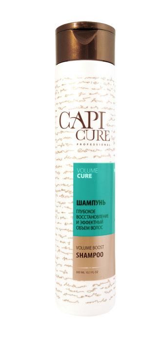 CapiCure Шампунь Глубокое восстановление и Эффектный объем волос, 300 мл02041403Шампунь Глубокое восстановление и Эффектный объем волос Volume Boost Shampoo С помощью входящего в состав активного комплекса с протеинами сои и пшеницы шампунь CapiCure придает заметный и долговременный объем тонким ослабленным волосам, делая волосы пышными от корней, с ощущением легкости, без утяжеления. Растительные экстракты восстанавливают нормальную жизнедеятельность луковиц, добавляют эластичности и мерцающего блеска. Низкомолекулярный активный комплекс с протеинами сои проникает под чешуйки волоса, восстанавливая поврежденные участки, насыщая необходимыми белками и аминокислотами. Защитный комплекс с маслом жожоба и витамином Е активизирует процесс восстановления, обволакивает волос по всей длине, разглаживая поверхность и запечатывая лечебные компоненты внутри. CapiCure – это система комплексного восстановления волос после длительных и агрессивных повреждений. Все продукты серии предназначены и максимально эффективны для глубинного восстановления волос, дополняют действие...