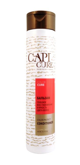 CapiCure Бальзам Глубокое восстановление и Яркость цвета волос, 300 мл02045102Бальзам Глубокое восстановление и Яркость цвета волос Color Protect Conditioner С помощью активных компонентов для защиты цвета окрашенных волос бальзам CapiCure эффективно препятствует вымыванию красителя, сохраняет насыщенность и яркость цвета, придает интенсивное сияние волосам. Защитный комплекс с маслом ши обволакивает каждый волос от корня до кончика, разглаживает поверхность и запечатывает лечебные компоненты внутри. Система двойного кондиционирования выравнивает структуру волоса по всей длине, восстанавливая поврежденные участки, возвращая волосам эластичность и здоровый блеск. Бальзам обеспечивает легкое расчесывание мокрых и сухих волос, защищает от агрессивного воздействия фена и утюжка, препятствует сечению и ломкости волос, содержит УФ-фильтр. CapiCure – это система комплексного восстановления волос после длительных и агрессивных повреждений. Все продукты серии предназначены и максимально эффективны для глубинного восстановления волос, дополняют действие друг друга и...