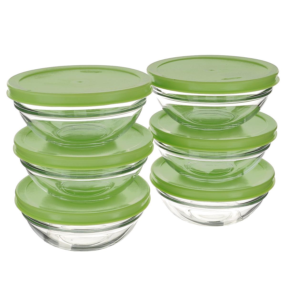 Набор салатников Pasabahce Chefs, с крышками, цвет: зеленый, диаметр 14 см, 6 шт53553BD1Набор Pasabahce Workshop Chefs состоит из шести круглых малых салатников. Салатники выполнены из прочного натрий-кальций-силикатного стекла. Изделия оснащены пластиковыми крышками. Такие салатники отлично подойдут для сервировки закусок, нарезок, салатов и других блюд, а наличие крышек дает возможность хранить продукты закрытыми в холодильнике. Салатники идеально подойдут для сервировки стола и станут отличным подарком к любому празднику. Можно мыть в посудомоечной машине и использовать в микроволновой печи. Диаметр салатника: 14 см. Высота салатника (без учета крышки): 5 см.