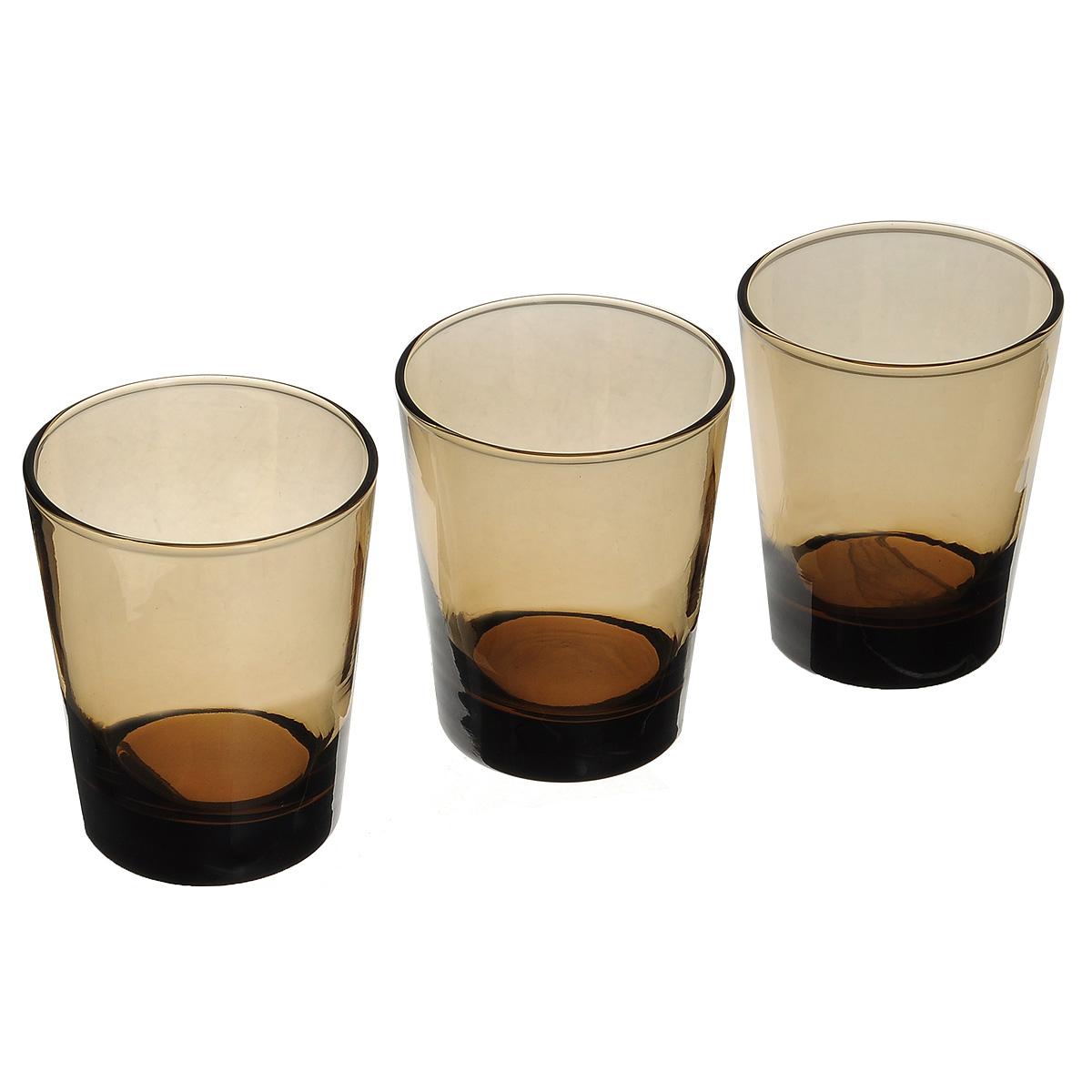 Набор стаканов Pasabahce Workshop Bronze, 305 мл, 3 шт42875B/ZНабор Pasabahce Workshop Bronze состоит из трех стаканов, изготовленных из прочного натрий-кальций-силикатного стекла. Изделия, предназначенные для подачи воды, сока и других напитков, несомненно придутся вам по душе. Стаканы сочетают в себе элегантный дизайн и функциональность. Благодаря такому набору пить напитки будет еще вкуснее. Набор стаканов Pasabahce Workshop Bronze идеально подойдет для сервировки стола и станет отличным подарком к любому празднику. Можно мыть в посудомоечной машине и использовать в микроволновой печи. Диаметр стакана по верхнему краю: 8 см. Высота стакана: 9,5 см.