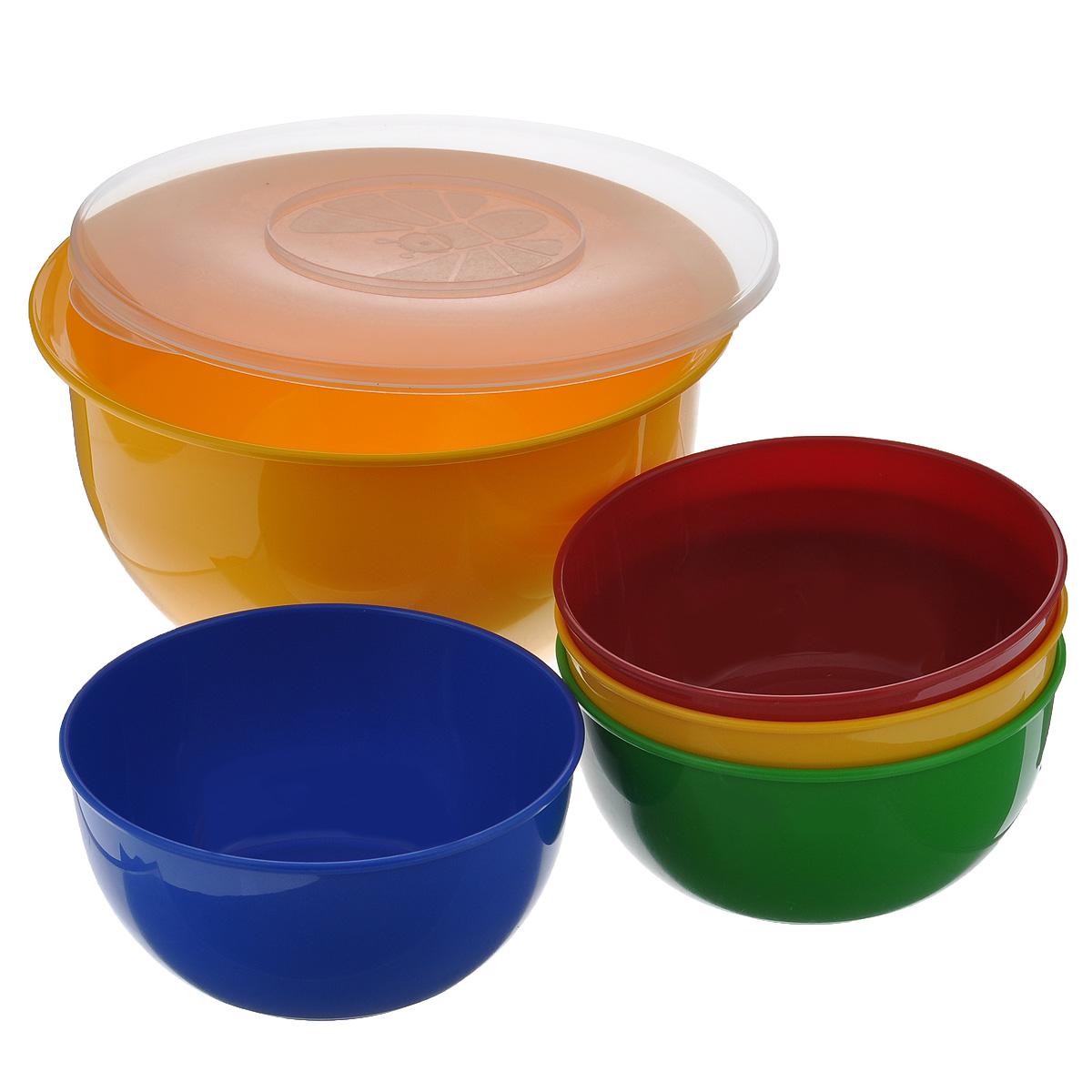 Набор посуды Solaris, 5 предметовS1405В состав набора Solaris входит 4 универсальные миски и большая миска с герметичной крышкой. Большую миску можно использовать как пищевой контейнер, для приготовления салата, мариновки шашлыка и т.п. Свойства посуды: Посуда из ударопрочного пищевого полипропилена предназначена для многократного использования. Легкая, прочная и износостойкая, экологически чистая, эта посуда работает в диапазоне температур от -25°С до +110°С. Можно мыть в посудомоечной машине. Эта посуда также обеспечивает: Хранение горячих и холодных пищевых продуктов; Разогрев продуктов в микроволновой печи; Приготовление пищи в микроволновой печи на пару (пароварка); Хранение продуктов в холодильной и морозильной камере; Кипячение воды с помощью электрокипятильника. Объем большой миски: 3 л. Диаметр большой миски: 22,5 см. Высота большой миски: 12,7 см. Объем небольших мисок: 0,6 л. Диаметр небольших мисок: 15,3 см. Высота небольших...