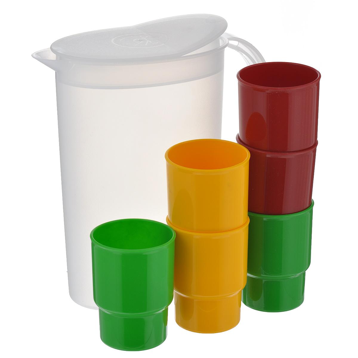 Набор посуды Solaris, 7 предметовS16036 толстостенных эргономичных стаканов Solaris из качественного полипропилена, в кувшине с полупрозрачными стенками. Кувшин снабжен съемной крышкой-клапаном. Крышка кувшина имеет 2 рабочих положения: открыто/закрыто. Сведения о посуде: Посуда из ударопрочного пищевого полипропилена предназначена для многократного использования. Легкая, прочная и износостойкая, экологически чистая, эта посуда работает в диапазоне температур от -25°С до +110°С. Можно мыть в посудомоечной машине. Эта посуда также обеспечивает: Хранение горячих и холодных пищевых продуктов; Разогрев продуктов в микроволновой печи; Приготовление пищи в микроволновой печи на пару (пароварка); Хранение продуктов в холодильной и морозильной камере; Кипячение воды с помощью электрокипятильника. В походном положении стаканы находятся внутри кувшина. Диаметр стаканов: 6,5 см. Высота стаканов: 9,5 см. Объем стаканов: 0,25 л. Высота кувшина:...