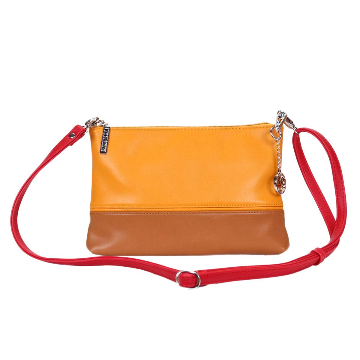 Сумка-клатч женский Leighton, цвет: желтый, темно-бежевый. 10651 ( 10651-1092/826/1092/806/6 )