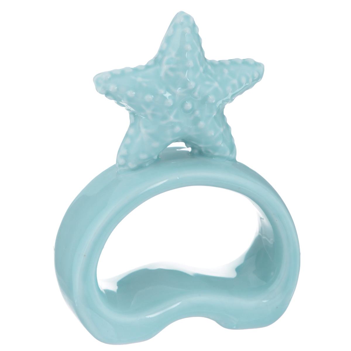 Фигурка декоративная Морская звезда, цвет: голубой, высота 10 см. 3676836768Декоративная фигурка Морская звезда изготовлена из высококачественного фаянса. Такая фигурка подойдет для декора интерьера дома или офиса. Вы можете поставить фигурку в любом месте, где она будет удачно смотреться и радовать глаз. Декоративная фигурка Морская звезда - это отличный вариант подарка для ваших близких и друзей. Размер фигурки: 7 см х 3 см х 10 см.