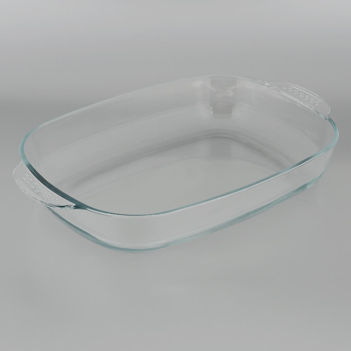 Форма для запекания Едим Дома, прямоугольная, 41 см х 26 смPVH4Прямоугольная форма для запекания Едим Дома изготовлена из жаропрочного стекла, которое выдерживает температуру до +450°С. Форма предназначена для приготовления горячих блюд. Оснащена двумя ручками. Материал изделия гигиеничен, прост в уходе и обладает высокой степенью прочности. Форма идеально подходит для использования в духовках, микроволновых печах, холодильниках и морозильных камерах. Также ее можно использовать на газовых плитах (на слабом огне) и на электроплитах. Можно мыть в посудомоечной машине. Внутренний размер формы: 35,5 см х 26 см. Внешний размер формы (с учетом ручек): 41 см х 26 см. Высота стенки формы: 6 см.