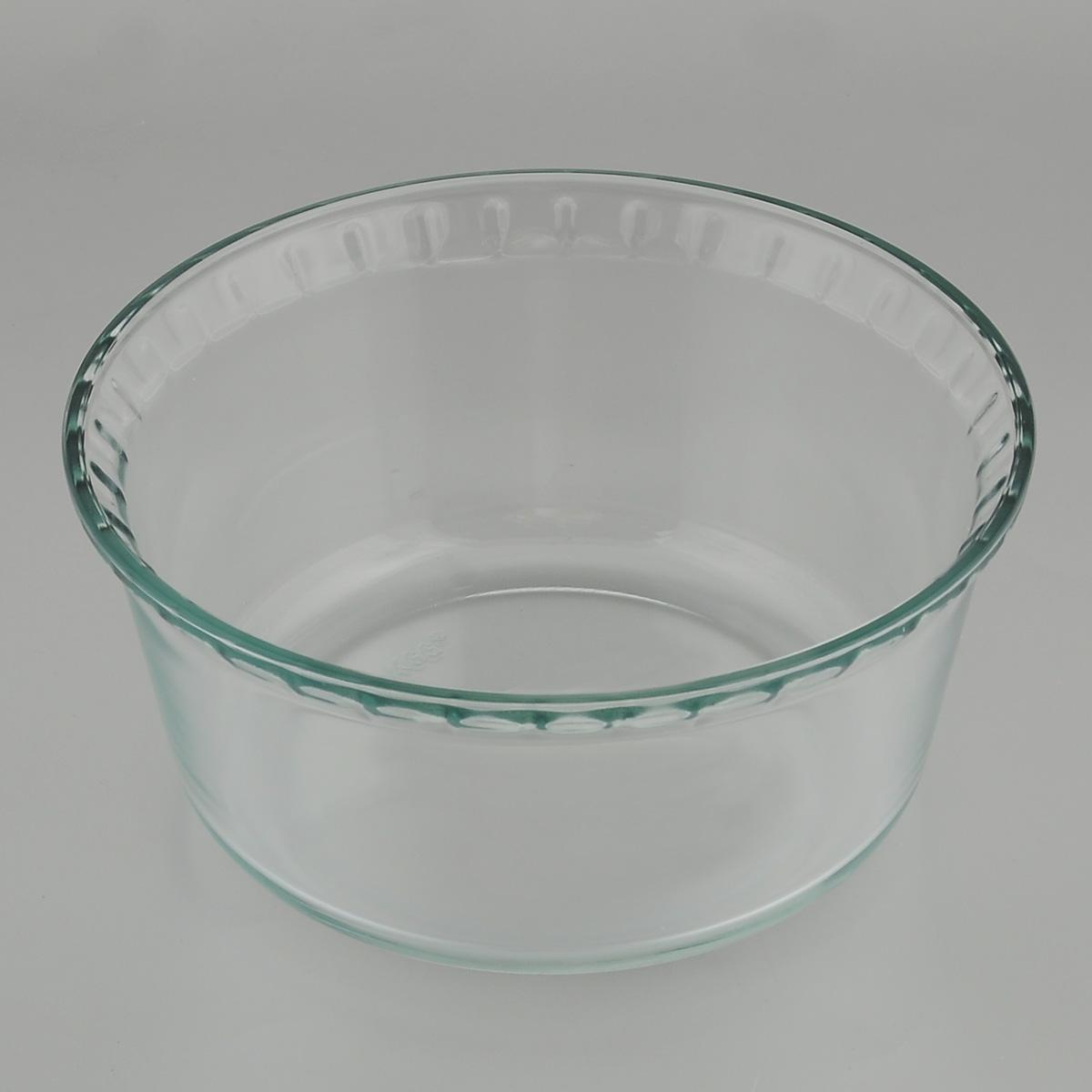 Форма для запекания Mijotex, круглая, диаметр 21 смPL22Глубокая круглая форма для запекания Mijotex изготовлена из жаропрочного стекла, которое выдерживает температуру до +450°С. Форма предназначена для приготовления горячих блюд. Материал изделия гигиеничен, прост в уходе и обладает высокой степенью прочности. Форма идеально подходит для использования в духовках, микроволновых печах, холодильниках и морозильных камерах. Также ее можно использовать на газовых плитах (на слабом огне) и на электроплитах. Можно мыть в посудомоечной машине. Диаметр формы: 21 см. Высота стенки формы: 10 см.