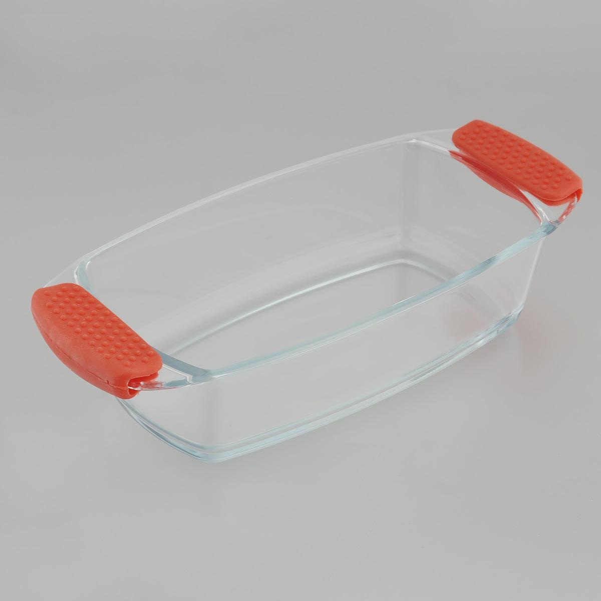 Форма для запекания Mijotex, прямоугольная, 30 см х 17 смPS1Прямоугольная форма для запекания Mijotex изготовлена из жаропрочного стекла, которое выдерживает температуру до +450°С. Форма предназначена для приготовления горячих блюд. Оснащена двумя ненагревающимися ручками с силиконовыми вставками. Материал изделия гигиеничен, прост в уходе и обладает высокой степенью прочности. Форма идеально подходит для использования в духовках, микроволновых печах, холодильниках и морозильных камерах. Также ее можно использовать на газовых плитах (на слабом огне) и на электроплитах. Можно мыть в посудомоечной машине. Внутренний размер формы: 23,5 см х 17 см. Внешний размер формы (с учетом ручек): 30 см х 17 см. Высота стенки формы: 7 см.