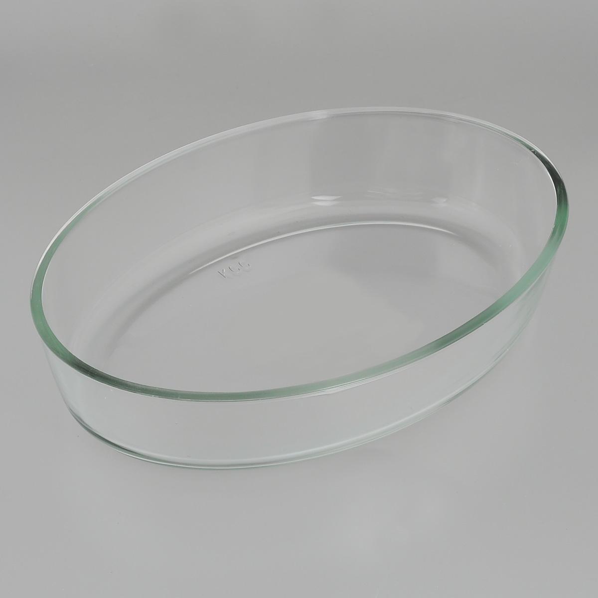 Форма для запекания Едим Дома, овальная, 26 см х 18 смPV12Овальная форма для запекания Едим Дома изготовлена из жаропрочного стекла, которое выдерживает температуру до +450°С. Форма предназначена для приготовления горячих блюд. Материал изделия гигиеничен, прост в уходе и обладает высокой степенью прочности. Форма идеально подходит для использования в духовках, микроволновых печах, холодильниках и морозильных камерах. Также ее можно использовать на газовых плитах (на слабом огне) и на электроплитах. Можно мыть в посудомоечной машине. Размер формы (по верхнему краю): 26 см х 18 см. Высота стенки формы: 6 см.