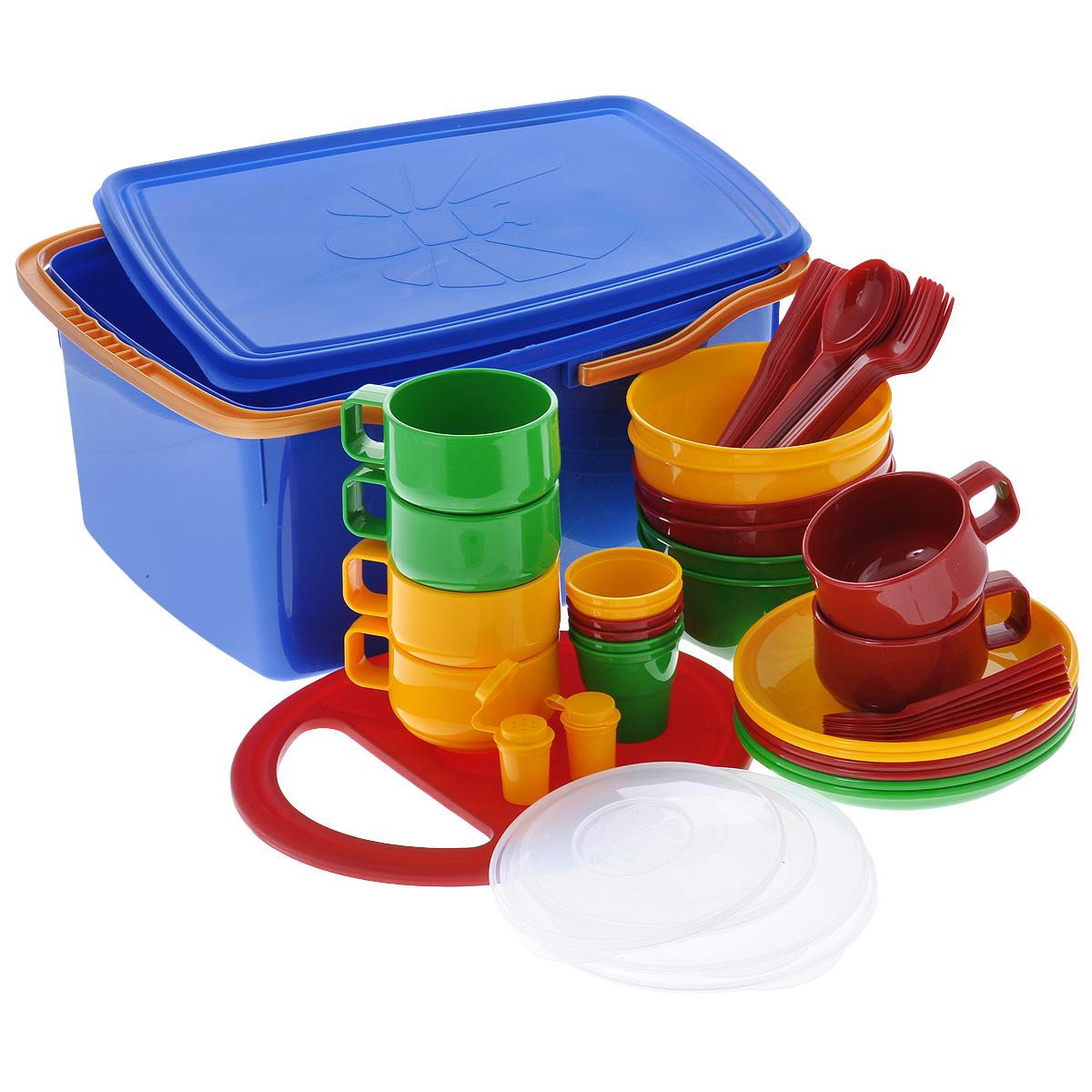 """Набор посуды """"Solaris"""", в контейнере, на 6 персон S1602"""