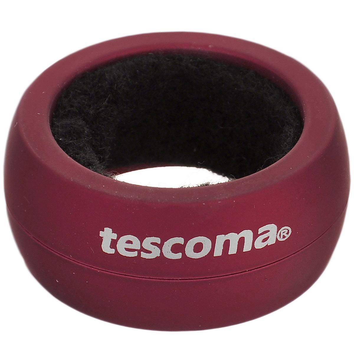 Кольцо для капель Tescoma Uno Vino, цвет: бордовый695432Кольцо для капель Tescoma Uno Vino изготовлено из высокопрочного пластика с прорезиненным покрытием. Такое кольцо препятствует нежелательному капанию вина. Просто наденьте его на горлышко, и ни одна капля не стечет на вашу скатерть.