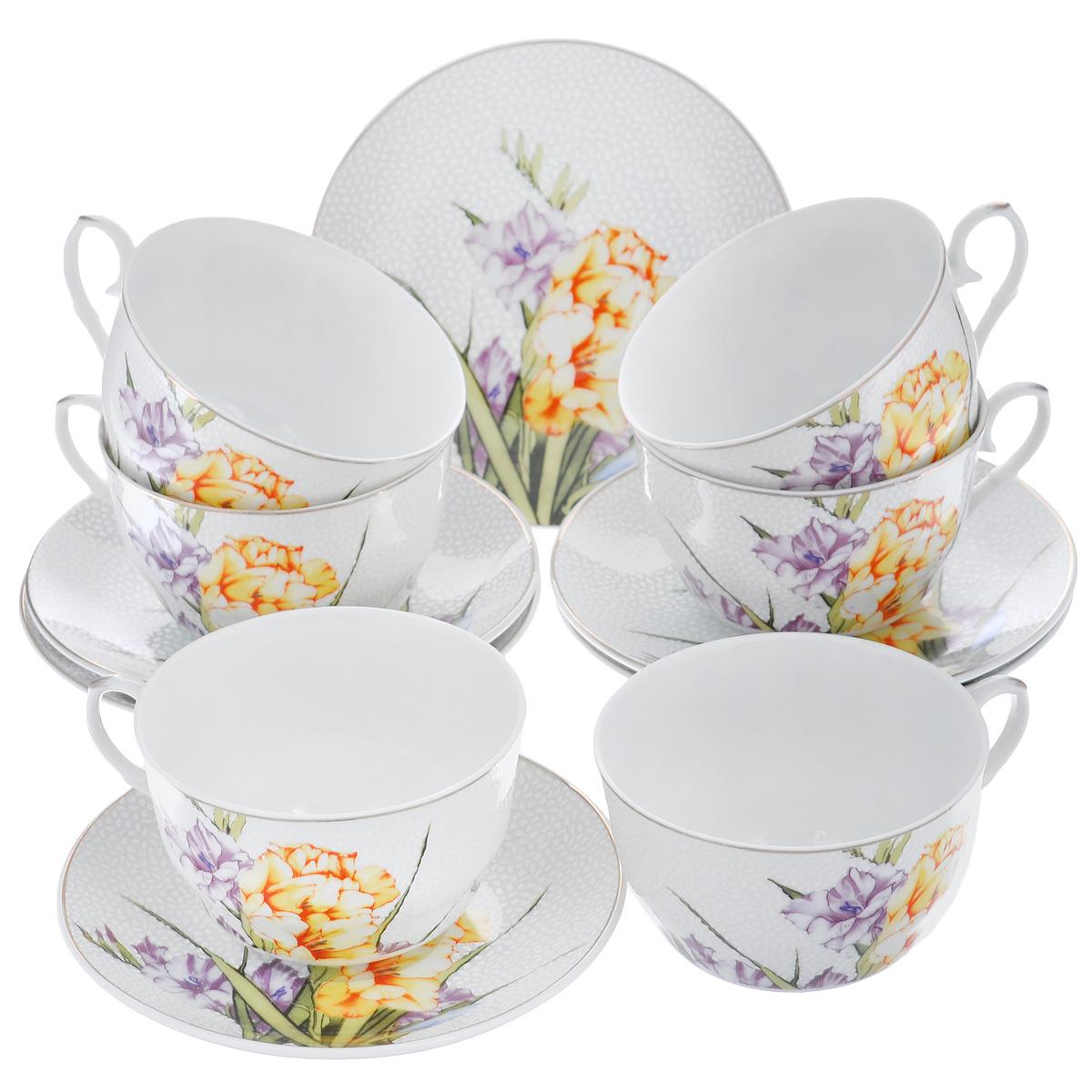 """Набор чайный Briswild """"Цветочный унисон"""", 12 предметов 543-265"""