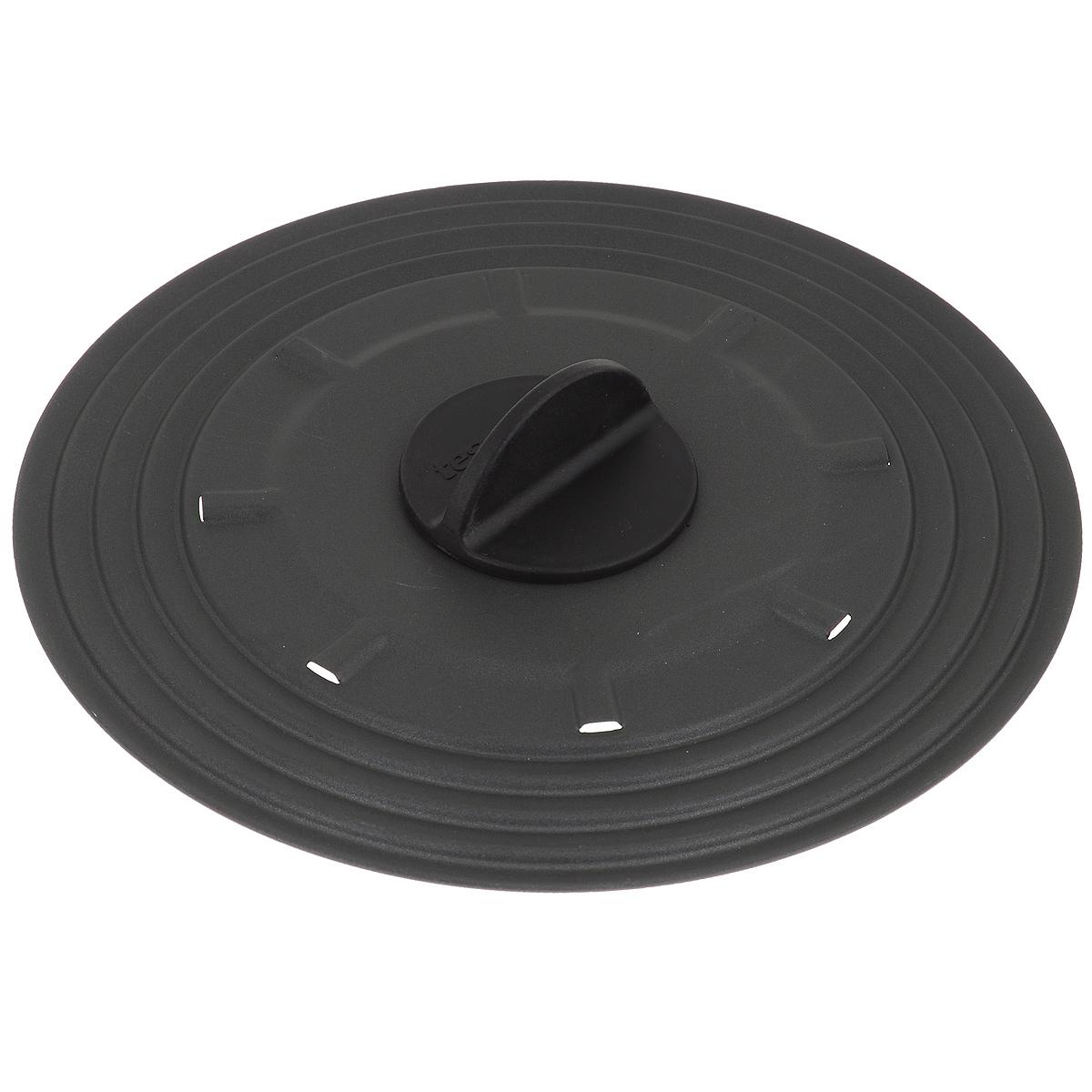 Крышка универсальная Tescoma Presto, для сковородок диаметром 20-24 см594952Крышка Tescoma Presto подходит в качестве универсальной крышки к сковородам диаметром 20-24 см. Изготовлена из огнеупорного нейлона с высококачественным антипригарным покрытием для легкой очистки. Имеет несколько отверстий для выхода пара. Ручка не нагревается. Можно мыть в посудомоечной машине.