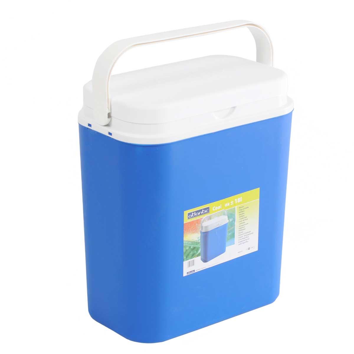 Контейнер изотермический Atlantic Cool Box, цвет: синий, 18 л5036Легкий и прочный изотермический контейнер Atlantic Cool Box предназначен для сохранения определенной температуры продуктов во время длительных поездок. Корпус и крышка контейнера изготовлены из высококачественного пластика. Между двойными стенками находится термоизоляционный слой, который обеспечивает сохранение температуры. Крышку можно использовать в качестве столика или подноса. При использовании аккумулятора холода, контейнер обеспечивает сохранение продуктов холодными до 12 часов. Температурный режим эксплуатации: от -30°C до +60°C Контейнер идеально подходит для отдыха на природе, пикников, туристических походов и путешествий. Объем контейнера: 18 л. Размер контейнера: 33 см х 38 см х 18 см.