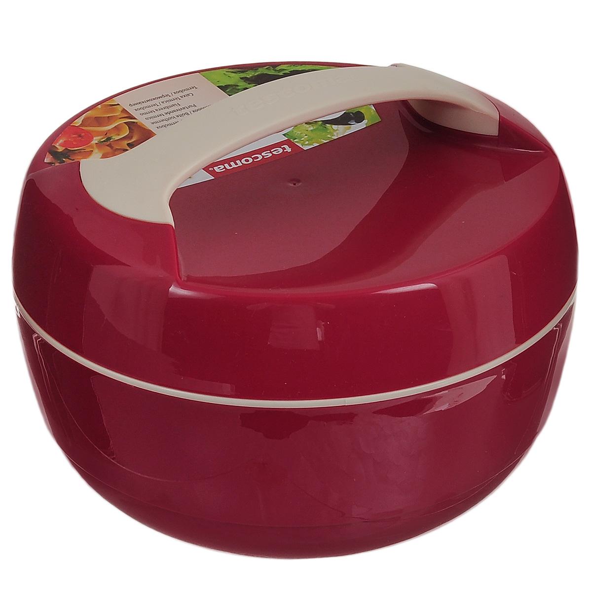 Термоконтейнер Tescoma Family, цвет: красный, 1,5 л310540Термоконтейнер Tescoma Family изготовлен из высококачественного пищевого пластика. Прекрасно подходит для длительного хранения и переноски теплой и холодной пищи. Двойные стенки контейнера с высокоэффективным теплоизоляционным заполнением сохраняют пищу теплой или холодной в течение нескольких часов. При обычном использовании контейнер не бьющийся. Крышка плотно и удобно закручивается. Для комфортной переноски предусмотрена ручка. Контейнер нельзя мыть в посудомоечной машине. Объем контейнера: 1,5 л. Диаметр контейнера: 22 см. Высота контейнера: 12,5 см.
