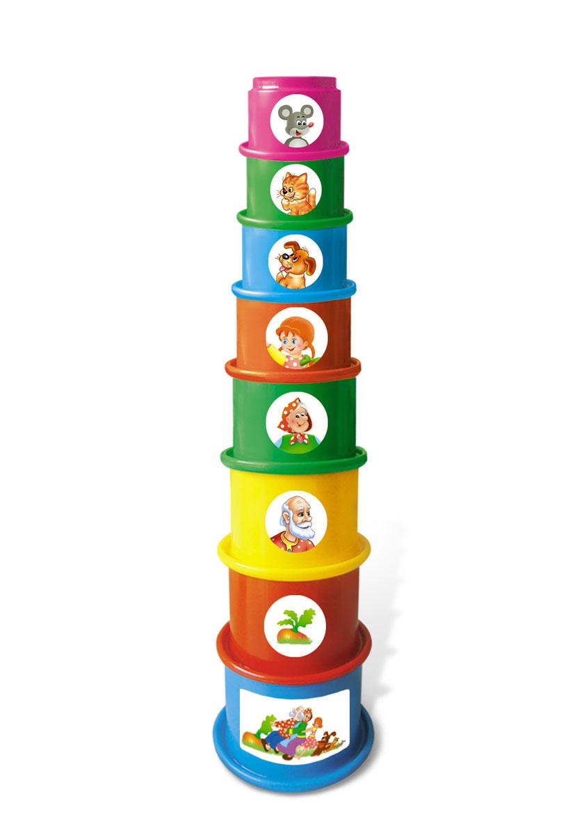 Stellar Пирамидка Репка01546Большая пирамидка Stellar Репка привлечет внимание вашего малыша. Пирамидку можно собирать из чего угодно. И вот яркий пример пирамиды из стаканчиков, которая в собранном виде может достигать весьма внушительных размеров. Пирамидка, выполненная из полипропилена, включает 8 круглых стаканчиков разных цветов и размеров. Стаканчики оформлены наклейками с изображением персонажей русской народной сказки Репка. Собрать пирамиду можно двумя разными способами: вставлять стаканчики друг в друга или ставить один сверху другого. Все стаканчики имеют отверстия на дне, так что отлично подходят для игр в воде или песочнице. Играя с этой пирамидкой, дети запомнят цвета, получат первые навыки счета, сопоставят размеры предметов. Уважаемые клиенты! Обращаем ваше внимание, что детали могут приходить в разных цветовых вариациях. Поставка возможна в зависимости от наличия на складе.