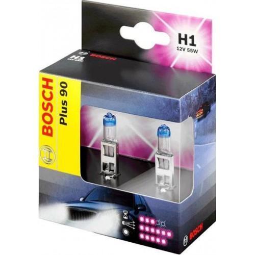 Лампа Bosch H1+90 2 шт 19873010731987301073Новые лампы Bosch для галогенных фар освещают дорогу интенсивным белым светом, который очень близок по свойствам к дневному освещению.Благодаря этому глаза водителя не теряют фокусировки и меньше устают даже во время долгих поездок в темное время суток. Новые лампы отличаются высокой яркостью и могут давать до 50% больше света, чем стандартные галогенные фары. Лампы Bosch доступны в вариантах H1, H4 и H7. Серебряное покрытие ламп H4 и H7 делает их едва заметными за стеклами выключенных фар. Новые лампы выглядят наиболее эффектно в сочетании с фарами из прозрачного стекла и подчеркивают современный дизайн автомобилей. Увеличенная яркость и дальность освещения положительно сказывается на безопасности движения. В темное время суток или в сложных погодных условиях, таких как ливень или густой туман, водитель замечает опасную ситуацию намного раньше и на большем расстоянии, при этом лучше заметен и сам автомобиль с фарами Bosch. Напряжение: 12 вольт