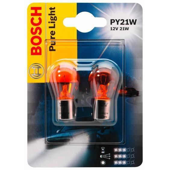 Лампа автомобильная Bosch Pure Light, 12 Вт, 2 шт1987301018Новые лампы Bosch выглядят наиболее эффектно в сочетании с фарами из прозрачного стекла и подчеркивают современный дизайн автомобилей. Основным предназначением габаритных огней является обозначение транспортного средства во время стоянки в темное время суток или в сложных погодных условиях, таких как ливень или густой туман, при этом лучше заметен сам автомобиль с фарами Bosch. Напряжение: 12 вольт.