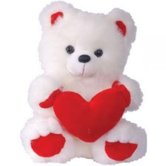 СмолТойс Медведь с сердцем В42см, 42 см. 3329АV/БЕЛ3329АV/БЕЛ