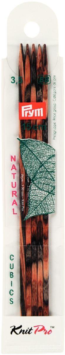 Спицы чулочные Prym Natural Cubics, деревянные, прямые, диаметр 3,5 мм, длина 15 см, 5 шт224123Спицы для вязания Prym Natural Cubics изготовлены из дерева. Спицы прочные, легкие, гладкие, удобные в использовании. Деревянные спицы предназначены для вязания чулок, шапочек, варежек, носков и других вещей. Вы сможете вязать для себя и делать подарки друзьям. Рукоделие всегда считалось изысканным, благородным делом. Работа, сделанная своими руками, долго будет радовать вас и ваших близких. Диаметр: 3,5 мм. Материал: дерево. Длина: 15 см. Комплектация: 5 шт.