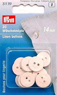 Пуговицы бельевые Prym, вулканизированные, цвет: белый, диаметр 14 мм, 20 шт311119Однотонные пуговицы Prym изготовлены из вулканизированного волокна и предназначены для постельного белья. Пуговицы устойчивы к кипячению. Изделия оснащены двумя отверстиями для пришивания к ткани и оформлены рельефным узором. В наборе - 20 пуговиц. Диаметр пуговиц: 14 мм. Материал: вулканизированное волокно.