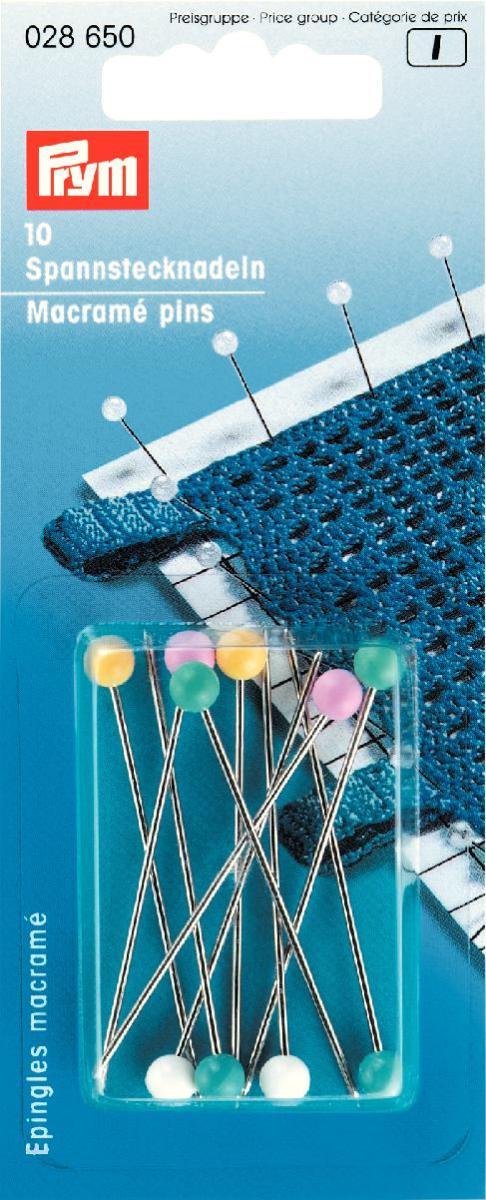 Булавки для макраме Prym, цвет: мультиколор, длина 5,5 см, 10 шт028650Булавки Prym для макраме с пластиковыми цветными головками изготовлены из высококачественной стали. Булавки имеют специальное покрытие, благодаря которому они не ржавеют. Тонкое острие легко вводится, не повреждая волокна ткани. Длина булавок: 5,5 см.