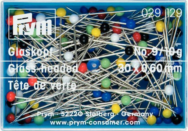 Набор булавок Prym, длина 3 см, 40 шт. 029129029129Набор Prym состоит из 40 булавок с разноцветными стеклянными головками. Закаленные булавки отличаются термоустойчивостью. Используются для шитья, чтобы закалывать, прикалывать куски мягких тканей и многое другое. Булавки размещены в компактной пластиковой коробочке с прозрачной крышкой. Комплектация: 40 шт. Материал: сталь, стекло, пластик. Длина: 3 см. Размер коробочки: 5,5 см х 4 см х 1,5 см.